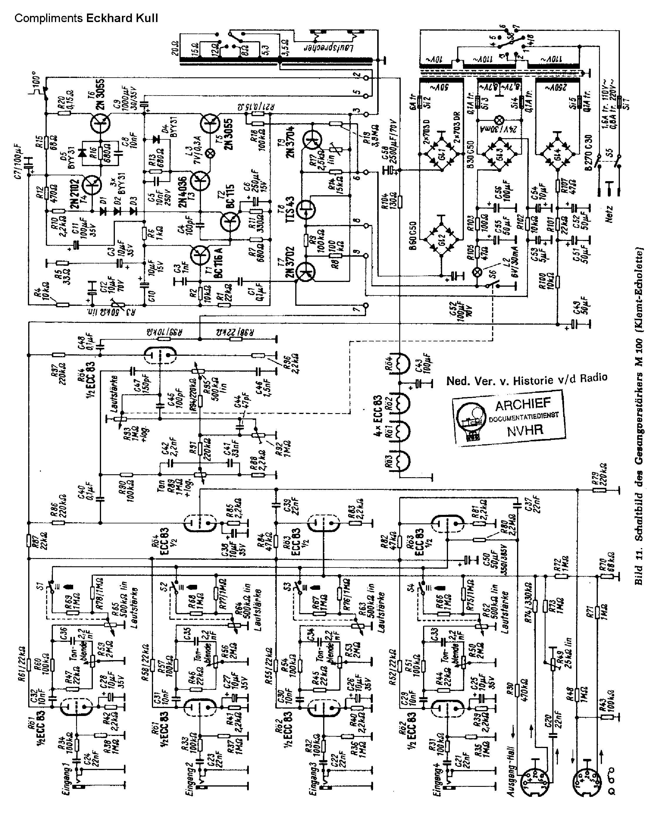 Echolette B40n Sch Service Manual Download  Schematics