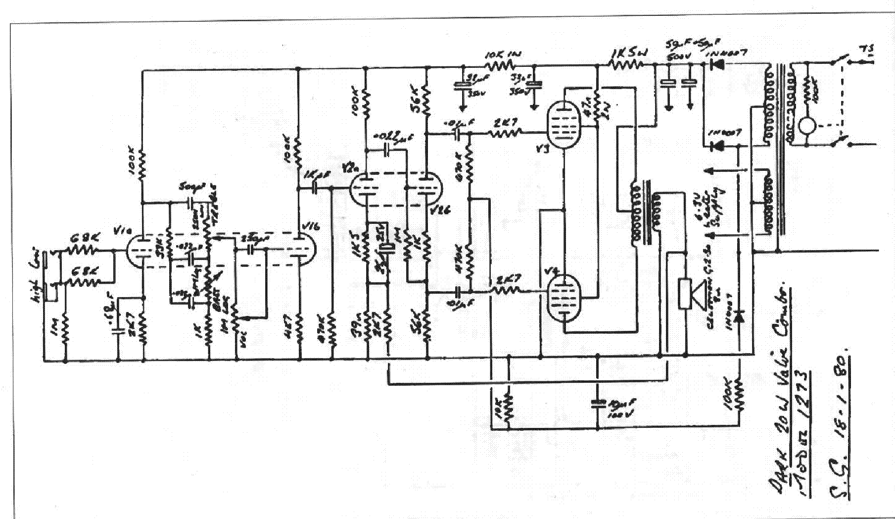 park amp schematics wiring diagram crate guitar amp wiring diagram #4