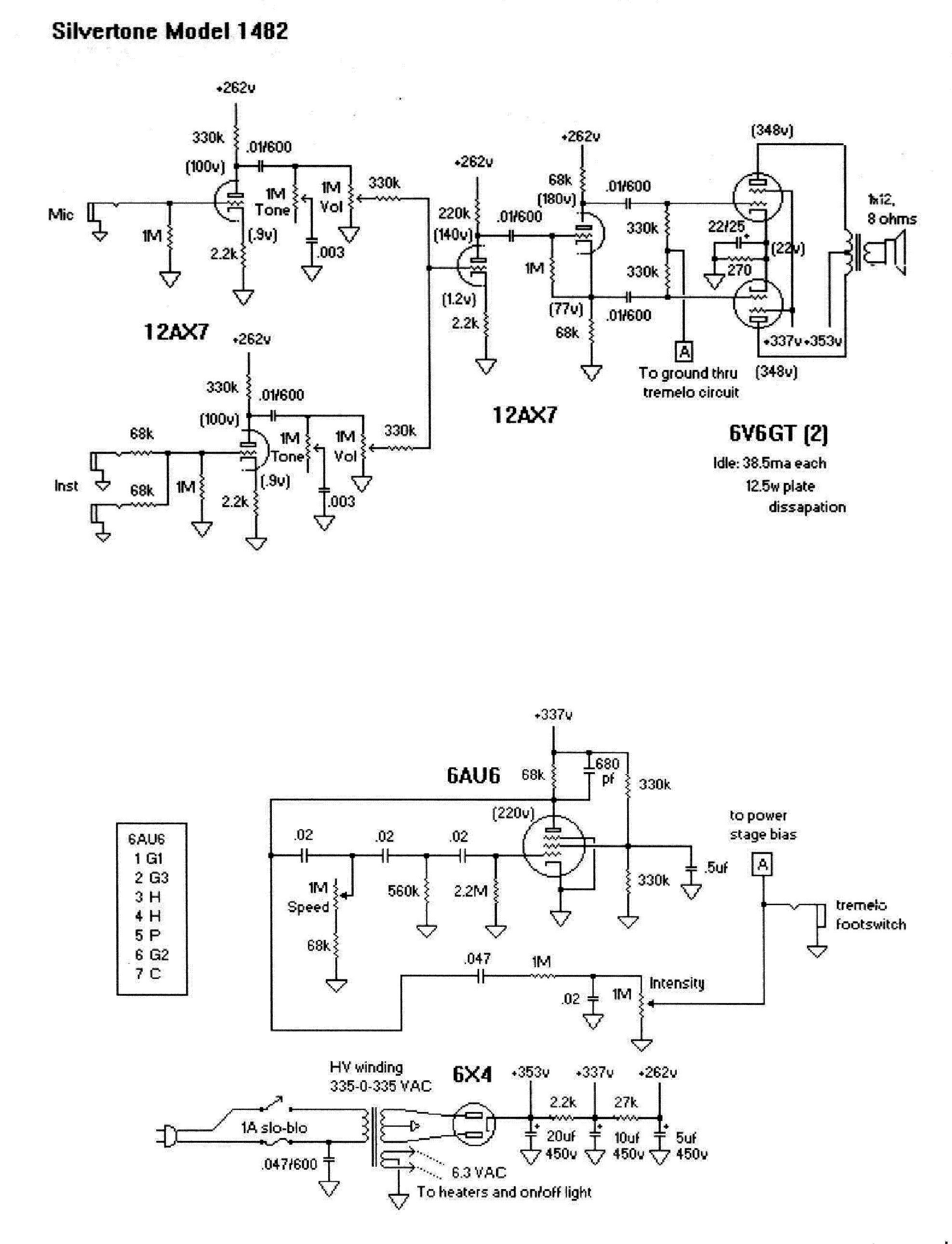 Silvertone 1482 Wiring Diagram Schematic Diagrams 1457 1301 Sch Service Manual Download Schematics Eeprom Vega