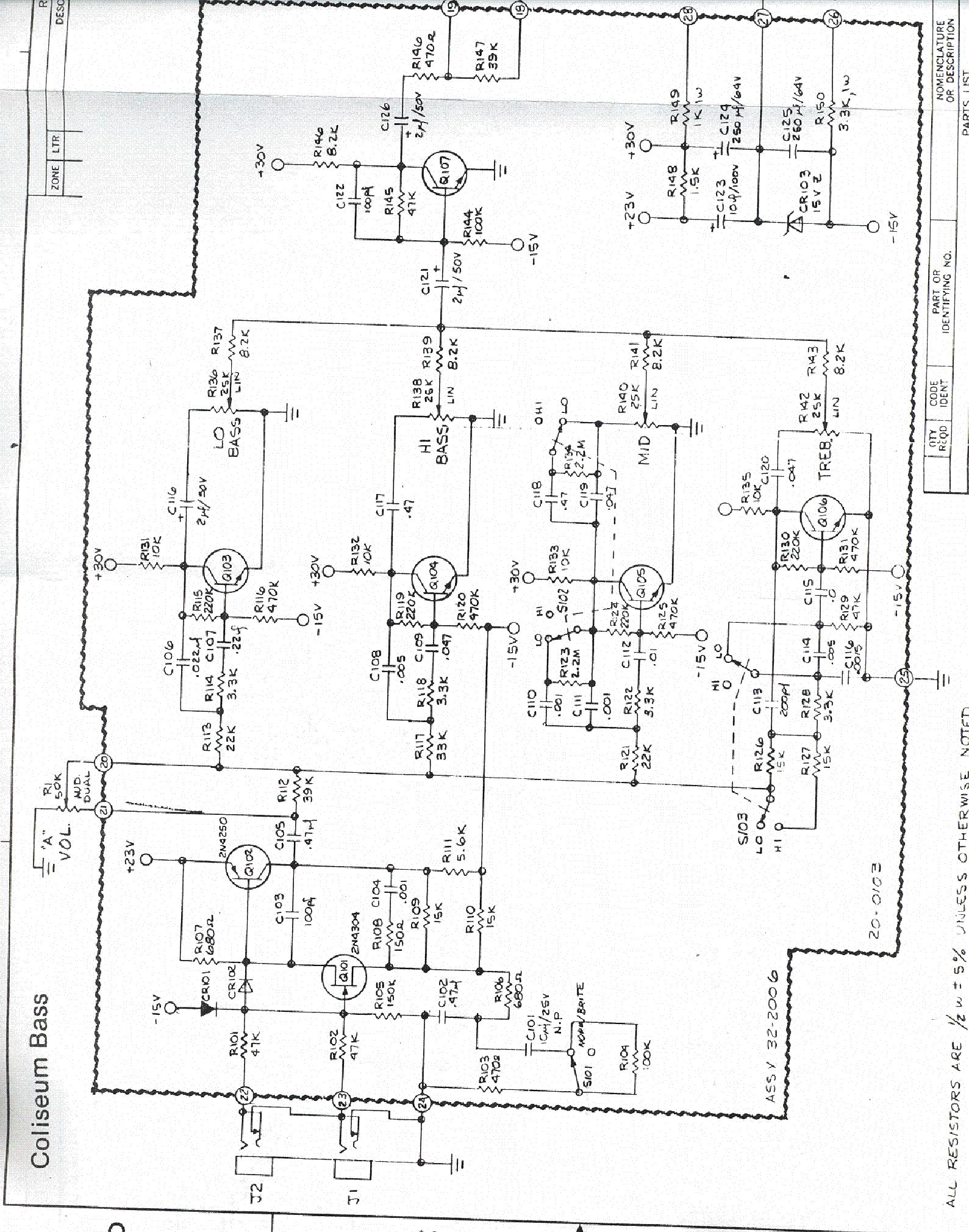 sunn sonic i40 sch service manual download  schematics