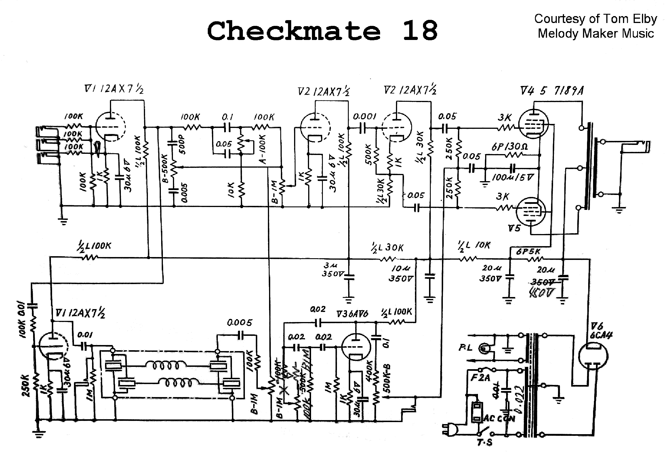 Teisco Wiring Diagram from elektrotanya.com