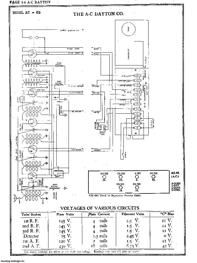 the a-c dayton co  ac-65 sch service manual (2nd page)
