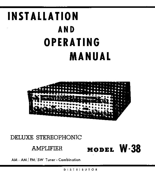 trio w38 am fm tuner stereo amplifier sm service manual download rh elektrotanya com 12H802 Manual 02 Mazda Protege5 Repair Manuals