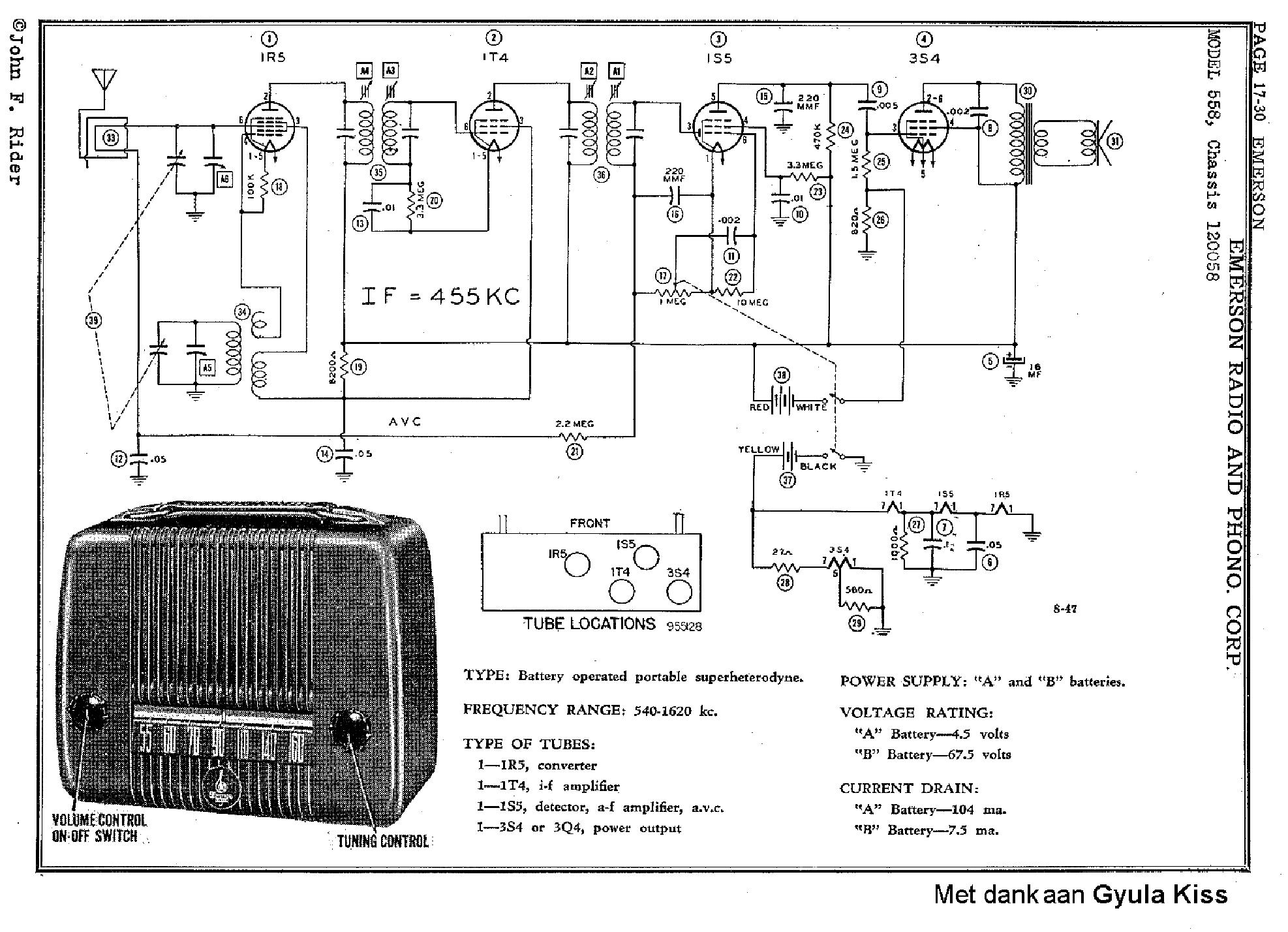 Emerson 560 Battery Radio Sch Service Manual Download