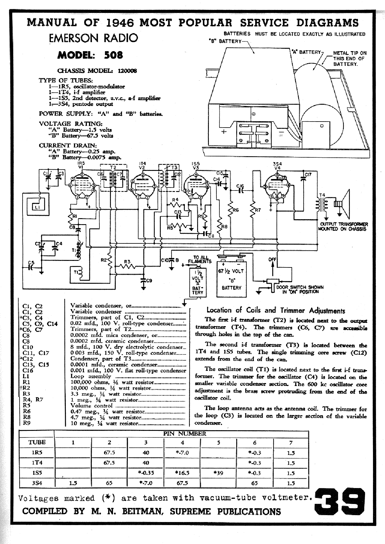 EMERSON MODEL-508 SCH service manual (1st page)