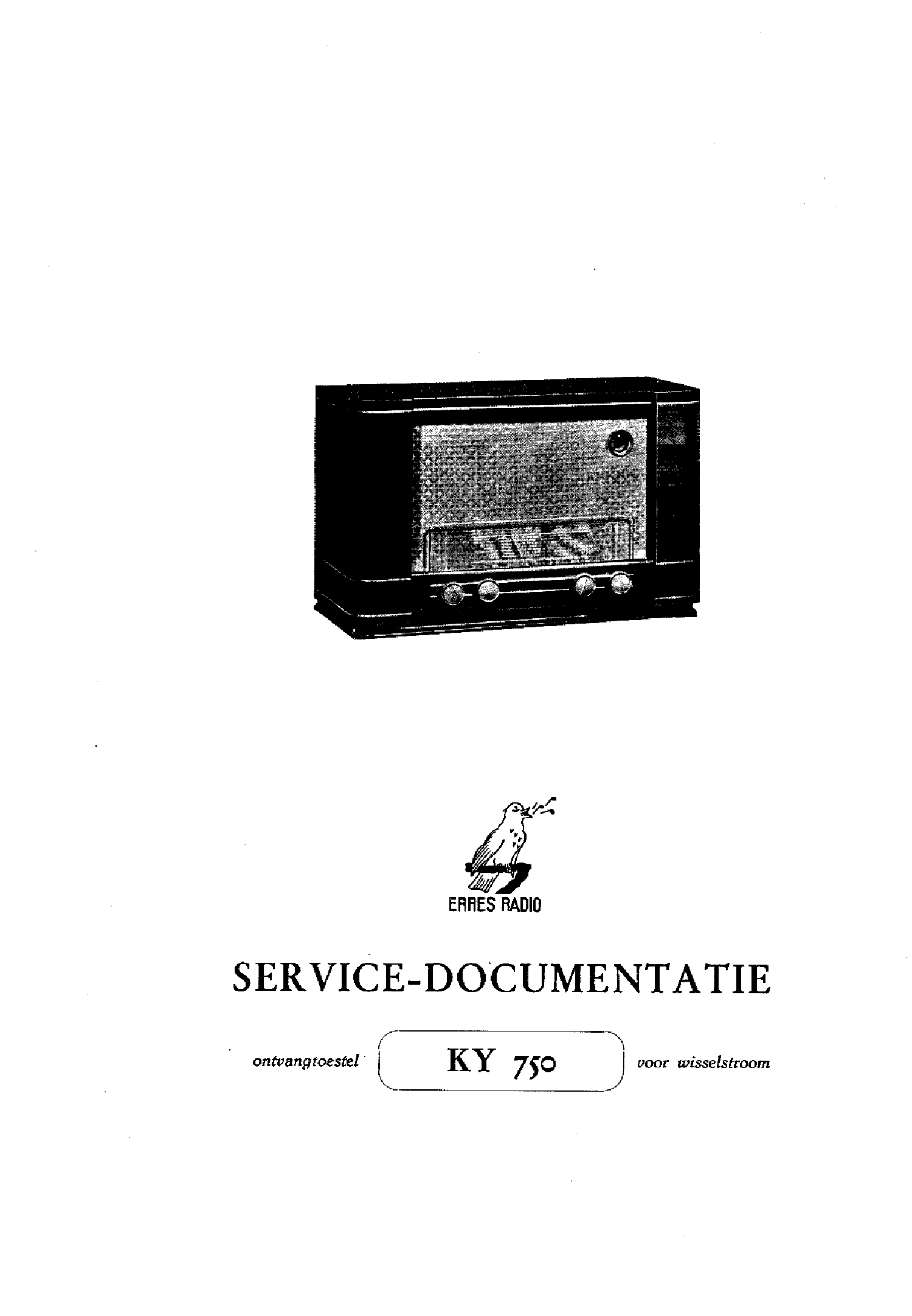 ERRES KY750 RADIO SCH service manual