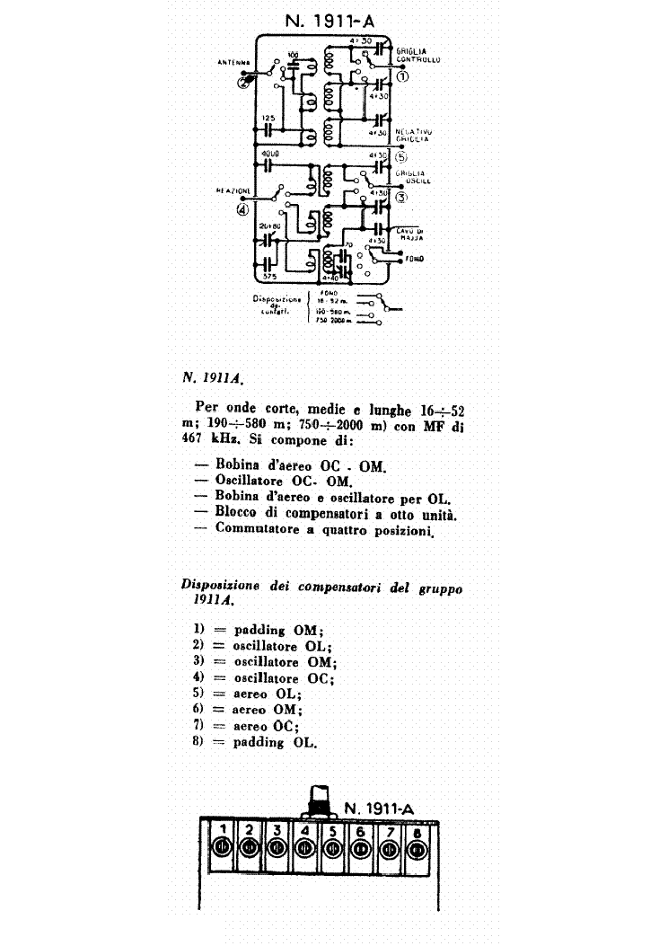 GELOSO 1911A RF UNIT SCH service manual (1st page)