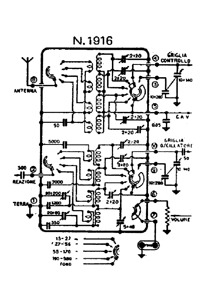 Geloso G1 1110 A 4xel503a 110 140w Audio Pa 1968 Sm Service Manual
