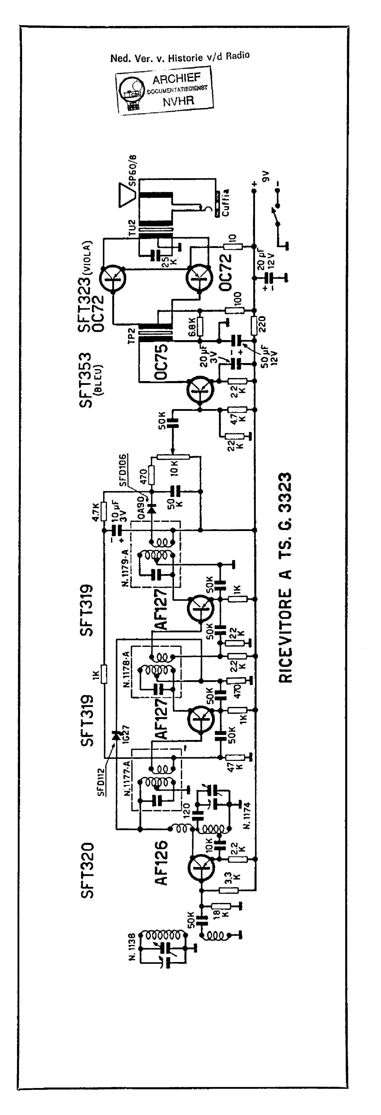 geloso g3323 9v transistor receiver sch service manual