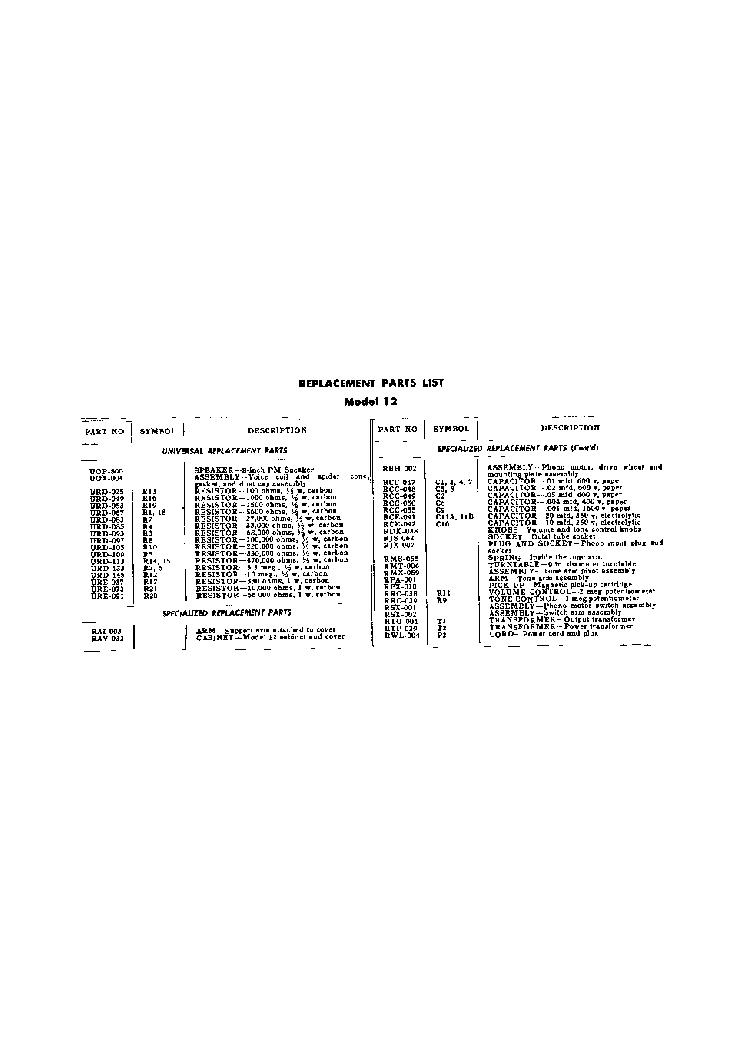 Ge Model 12 Gramophone Sch Service Manual Download