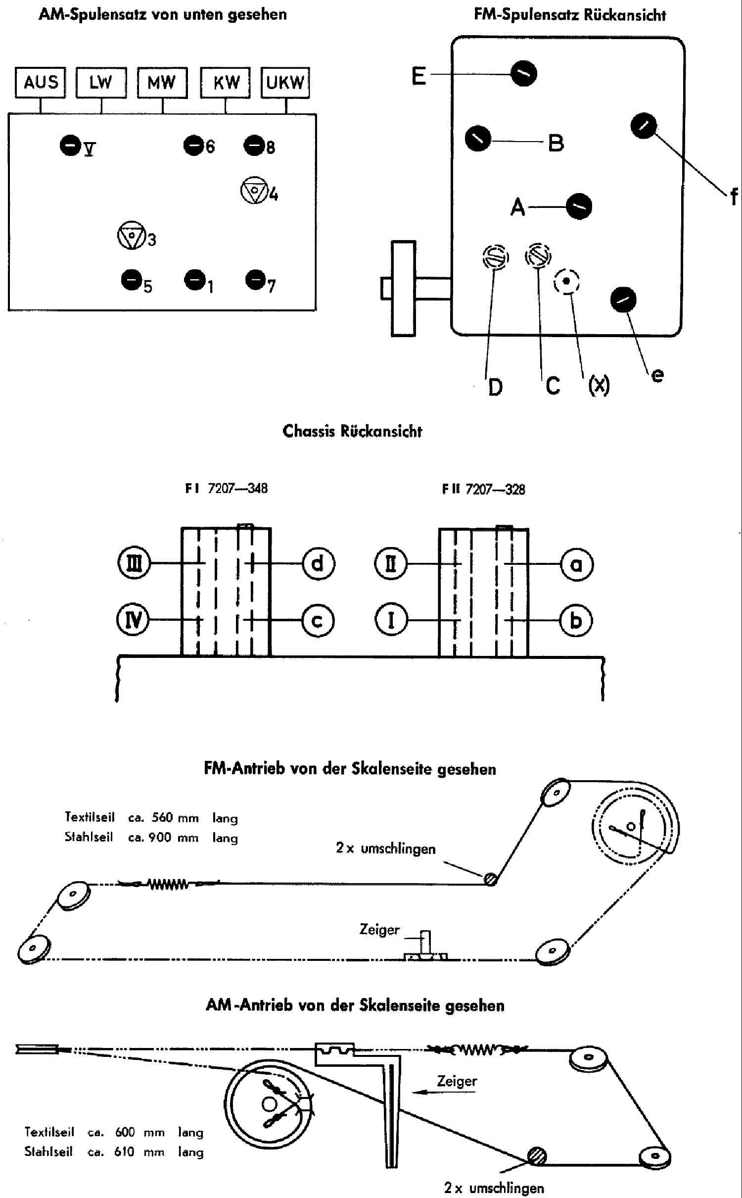 GRUNDIG 3036 3037 3039 AM-FM RADIO 1959 SCH service manual (2nd page)