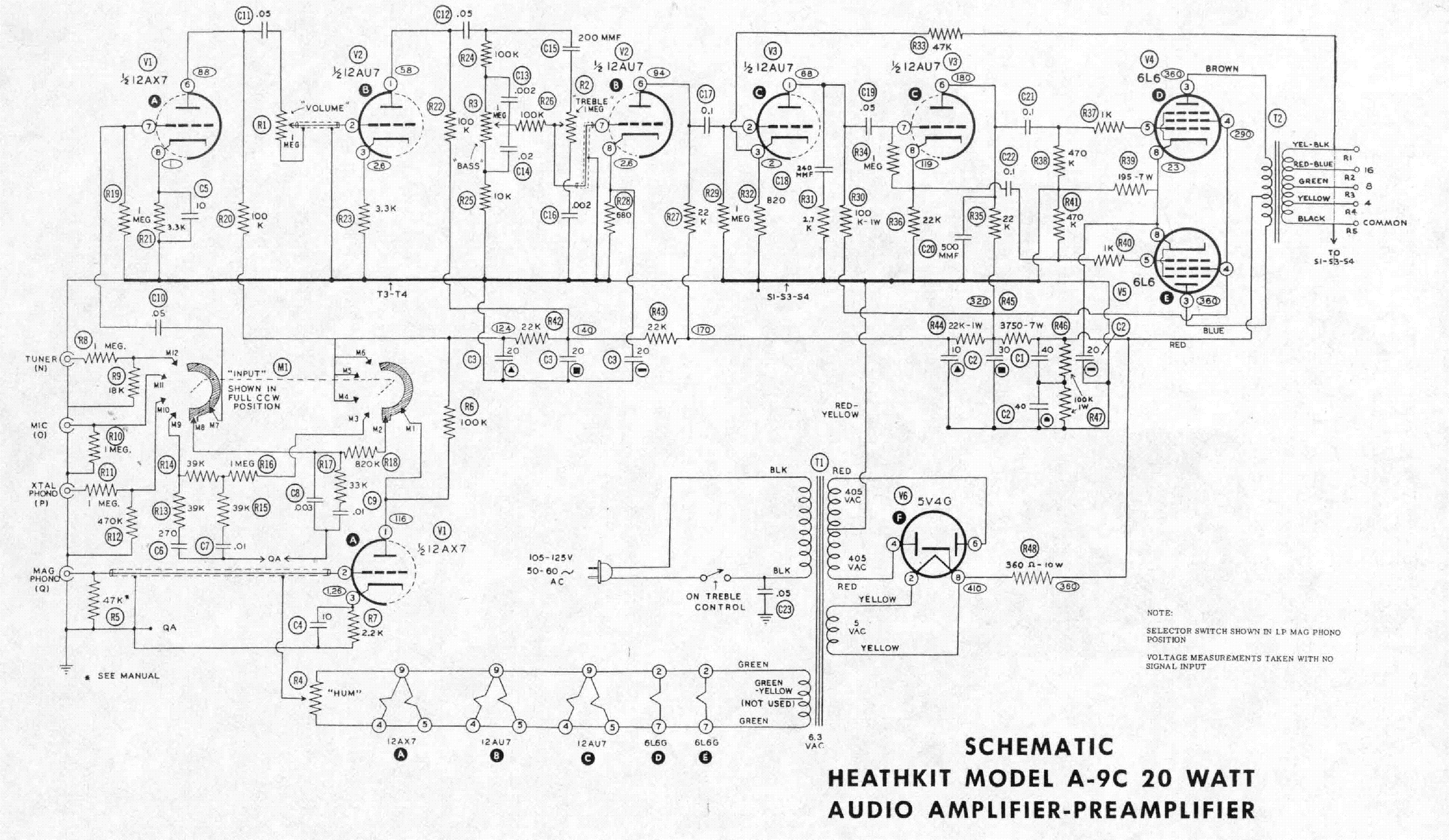 HEATHKIT XR-2 6 TRANSISTOR RADIO SCHEMATIC Service Manual ... on