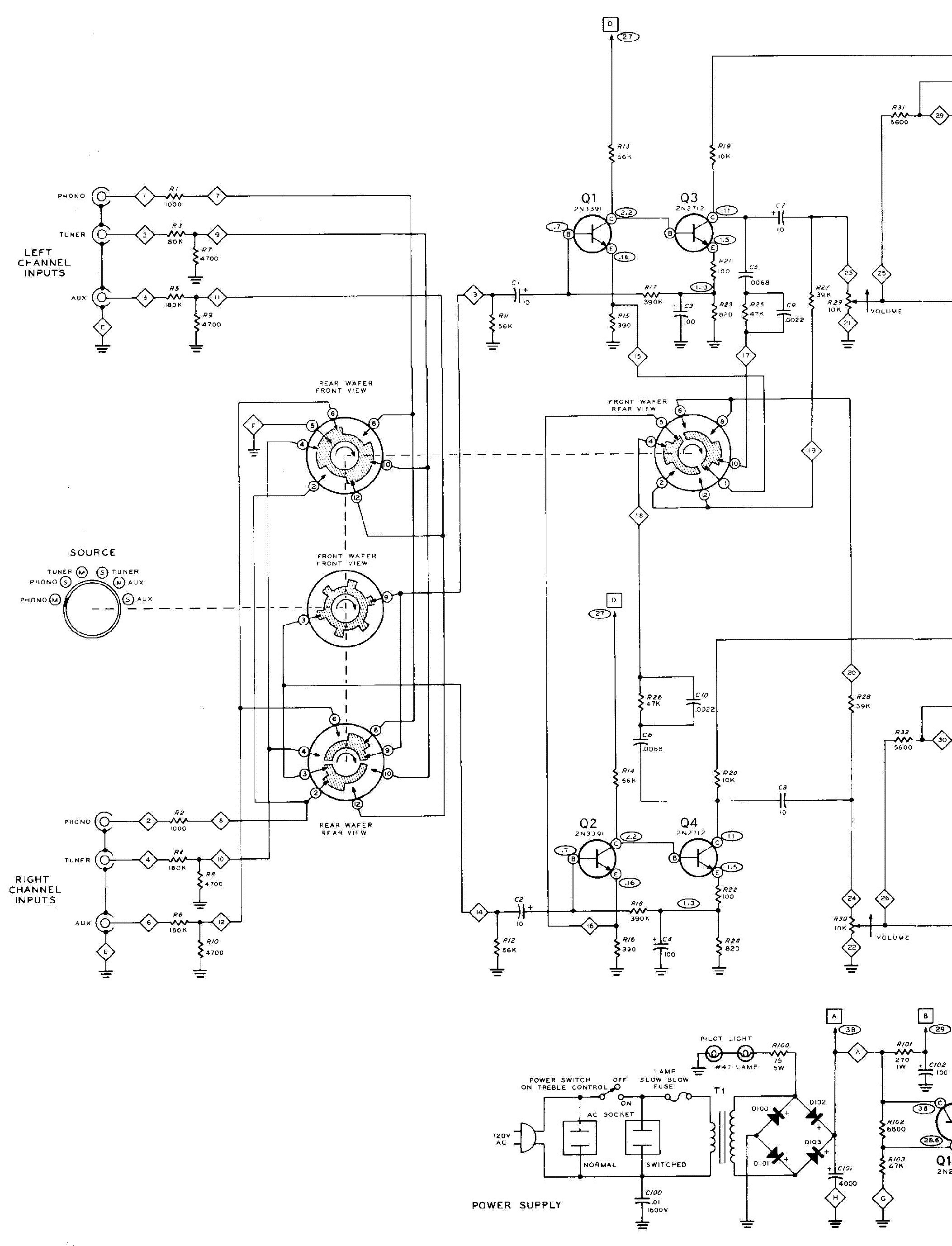 heathkit aa14 20w solid state stereo amplifier sm service manual download  schematics  eeprom