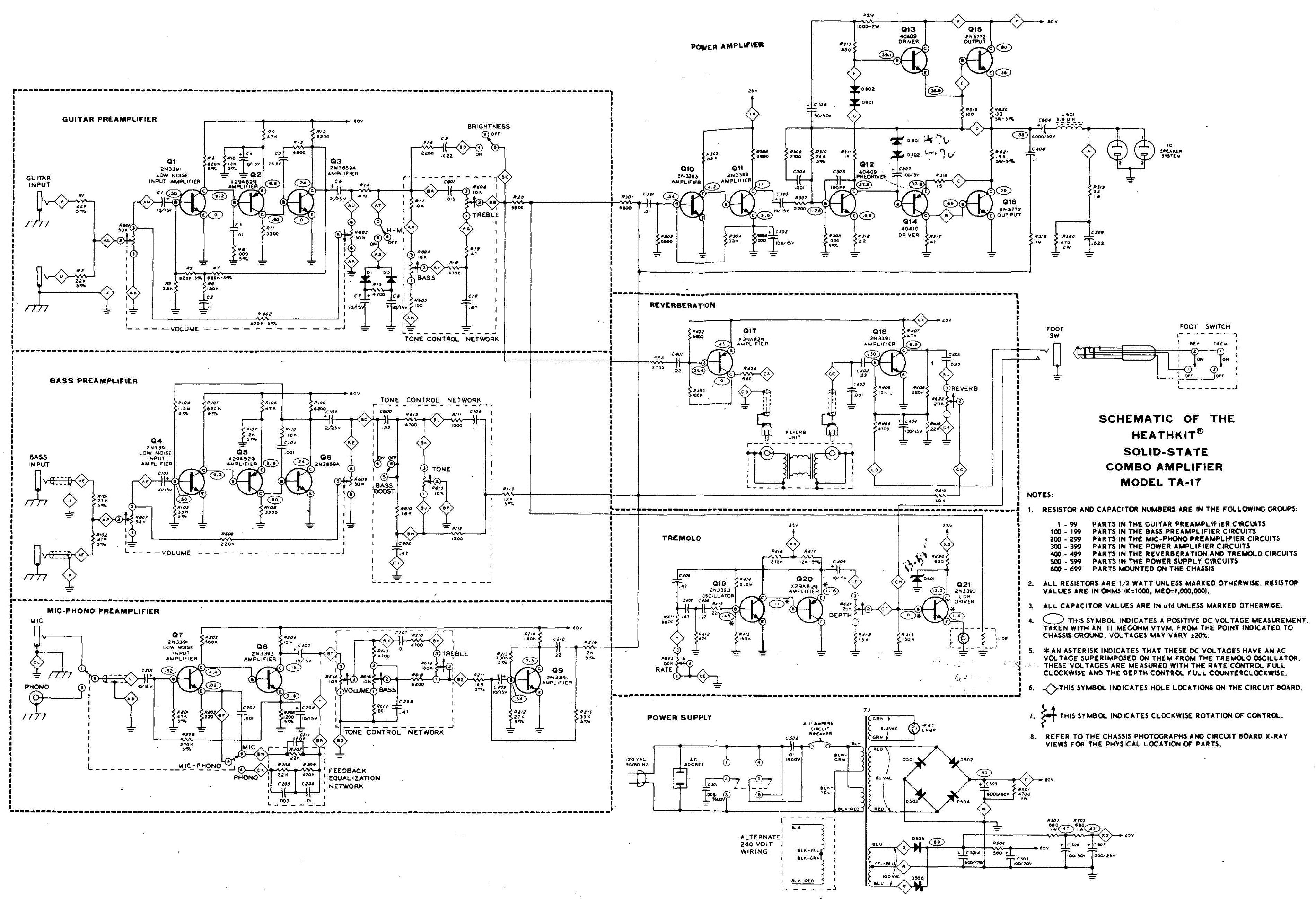 heathkit ta 16 schematics