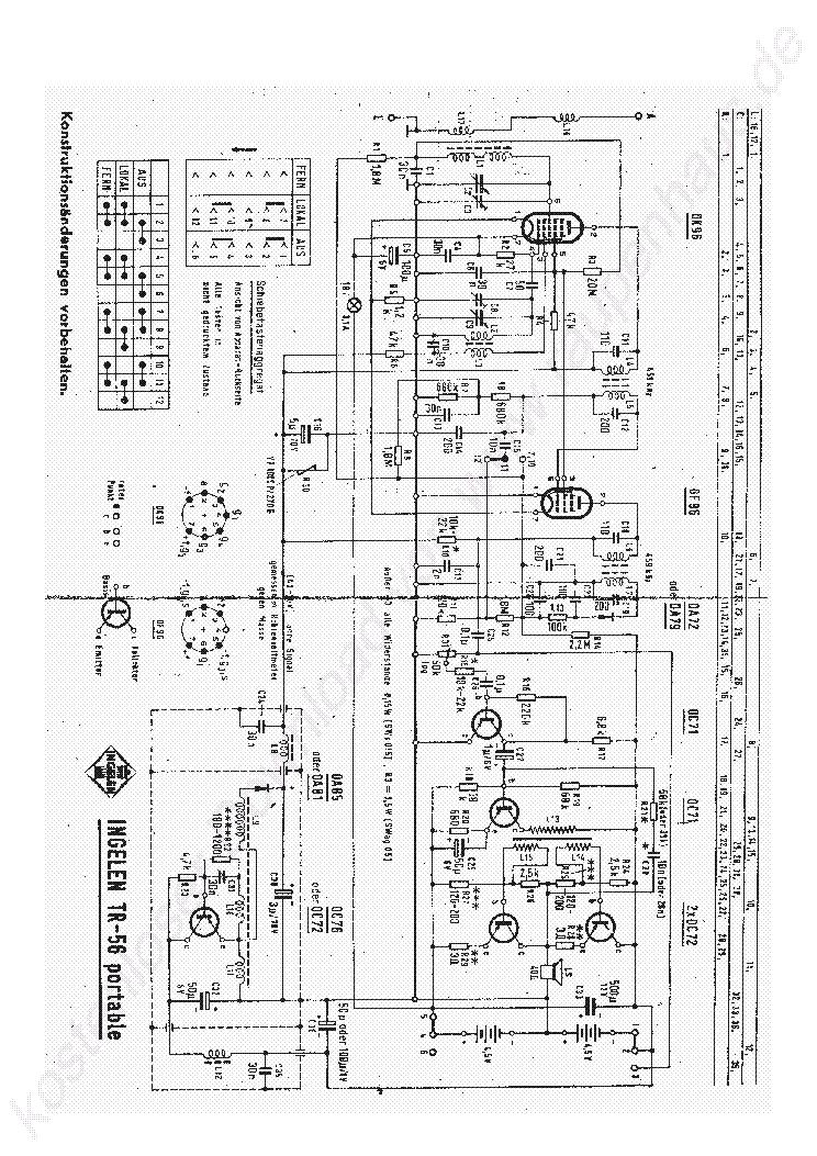 ingelen tr56 portable radio 1965 sch service manual