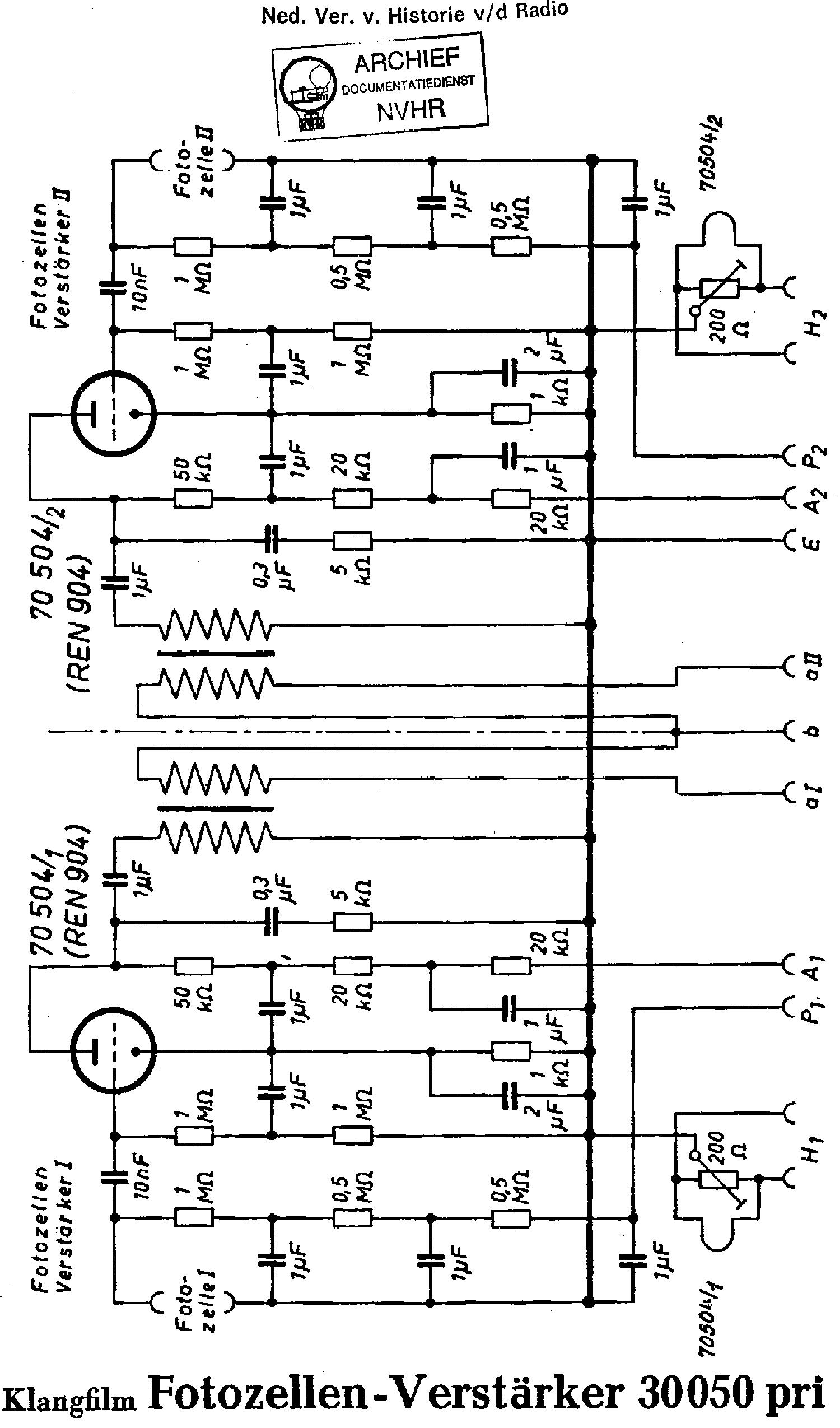 Klangfilm 34600 Biokin Amplifier Sch Service Manual Download Photocells Amplifiers Circuit Schematic Diagram 30050 Photocell