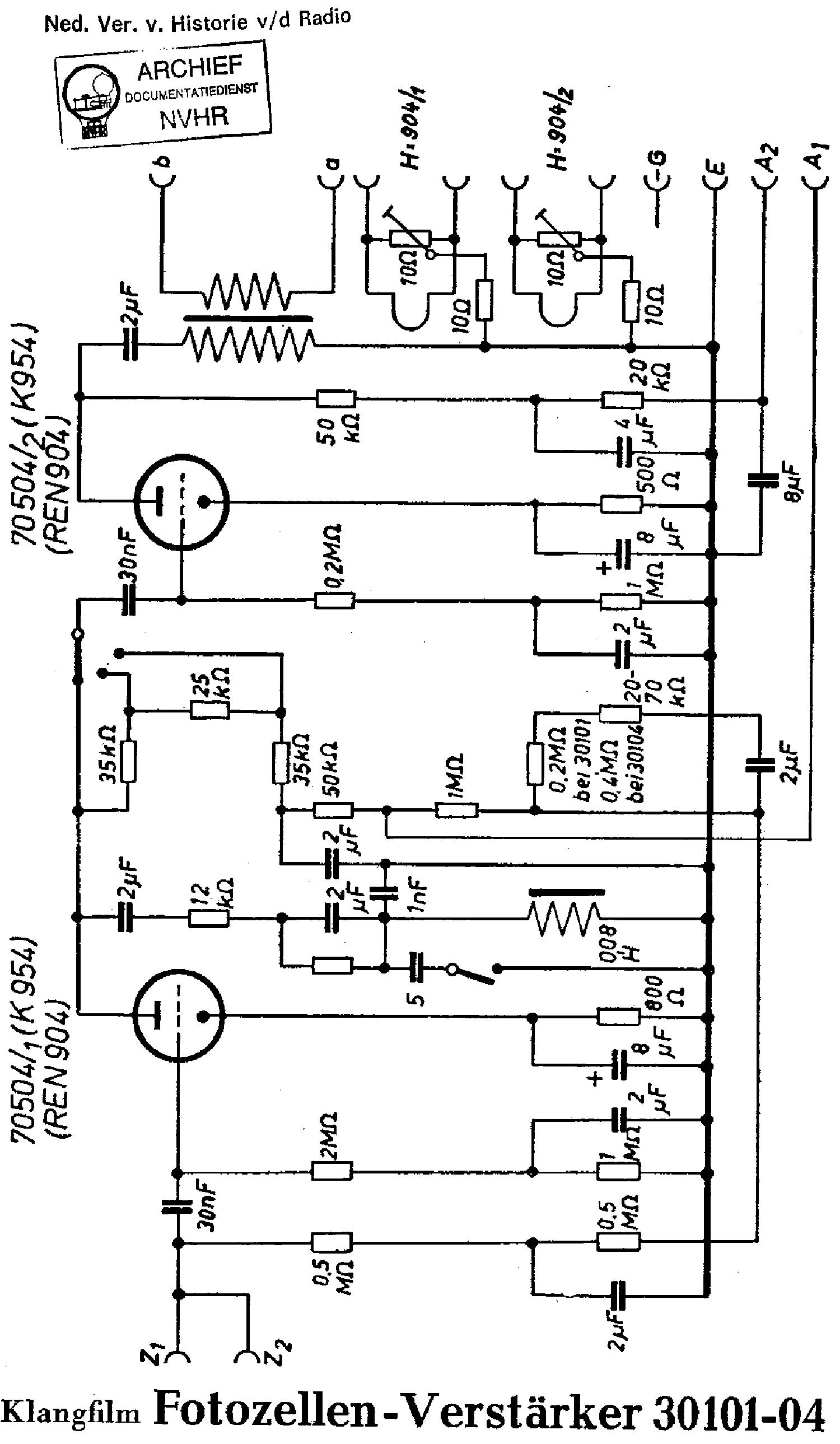 Klangfilm 34706 Europa Klarton Amplifier Sch Service Manual Download Photocells Amplifiers Circuit Schematic Diagram 30101 04 Photocell