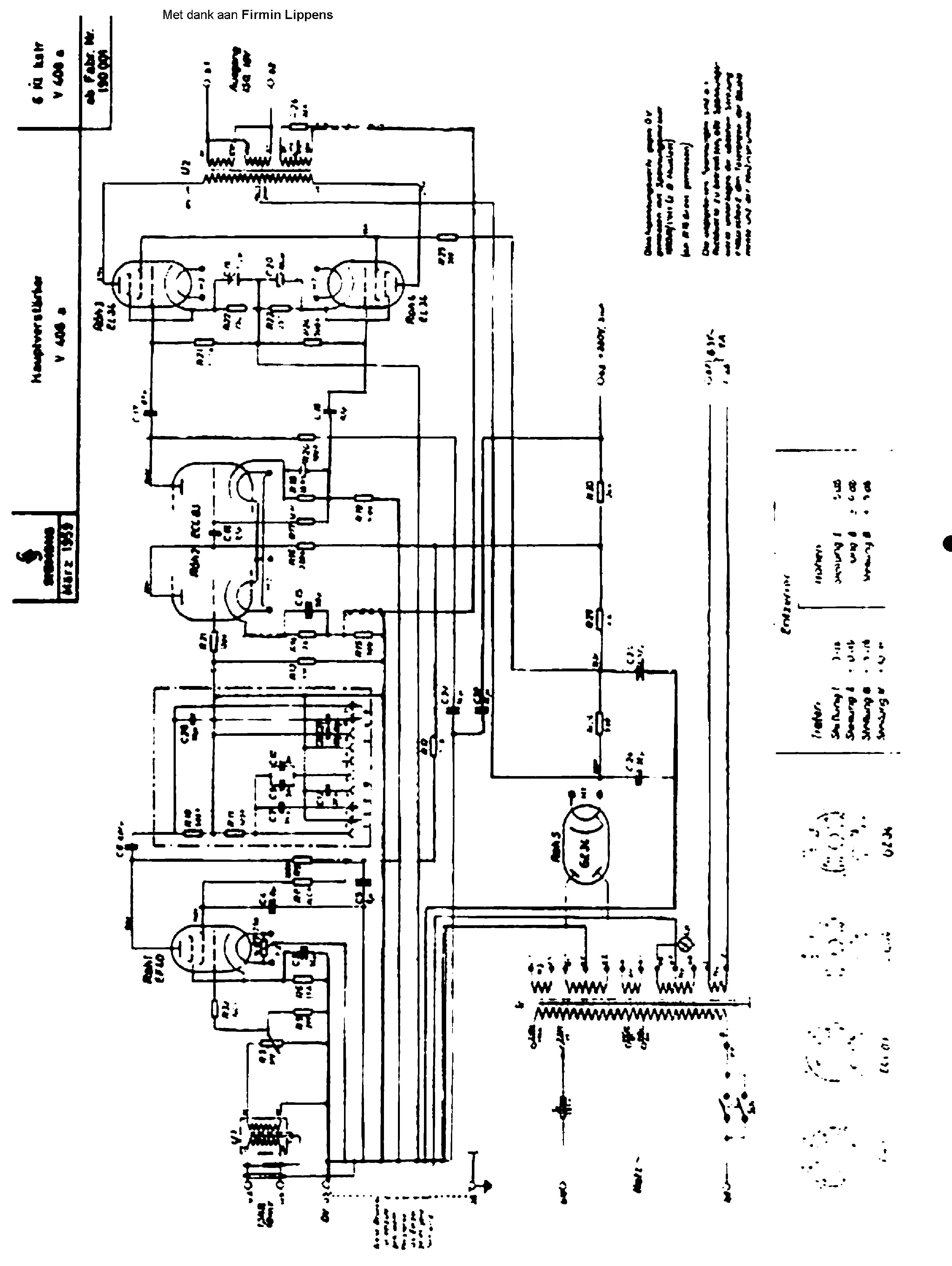 KLANGFILM V408 SIEMENS V408A AMPLIFIER SCH service manual (1st page)