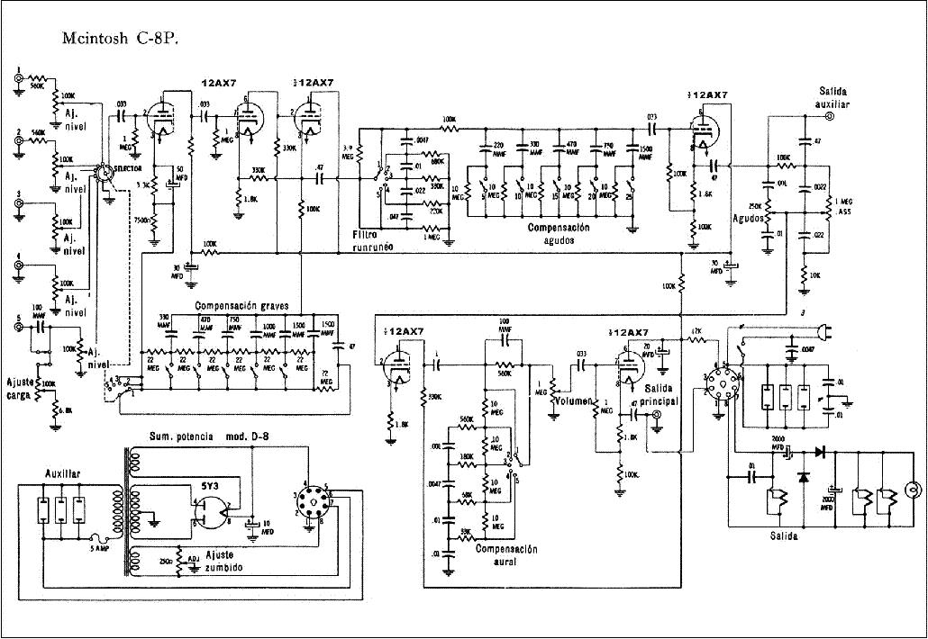 mcintosh c 8 m professional aiudio compensator sm service manual rh elektrotanya com McIntosh MR77 McIntosh MR78