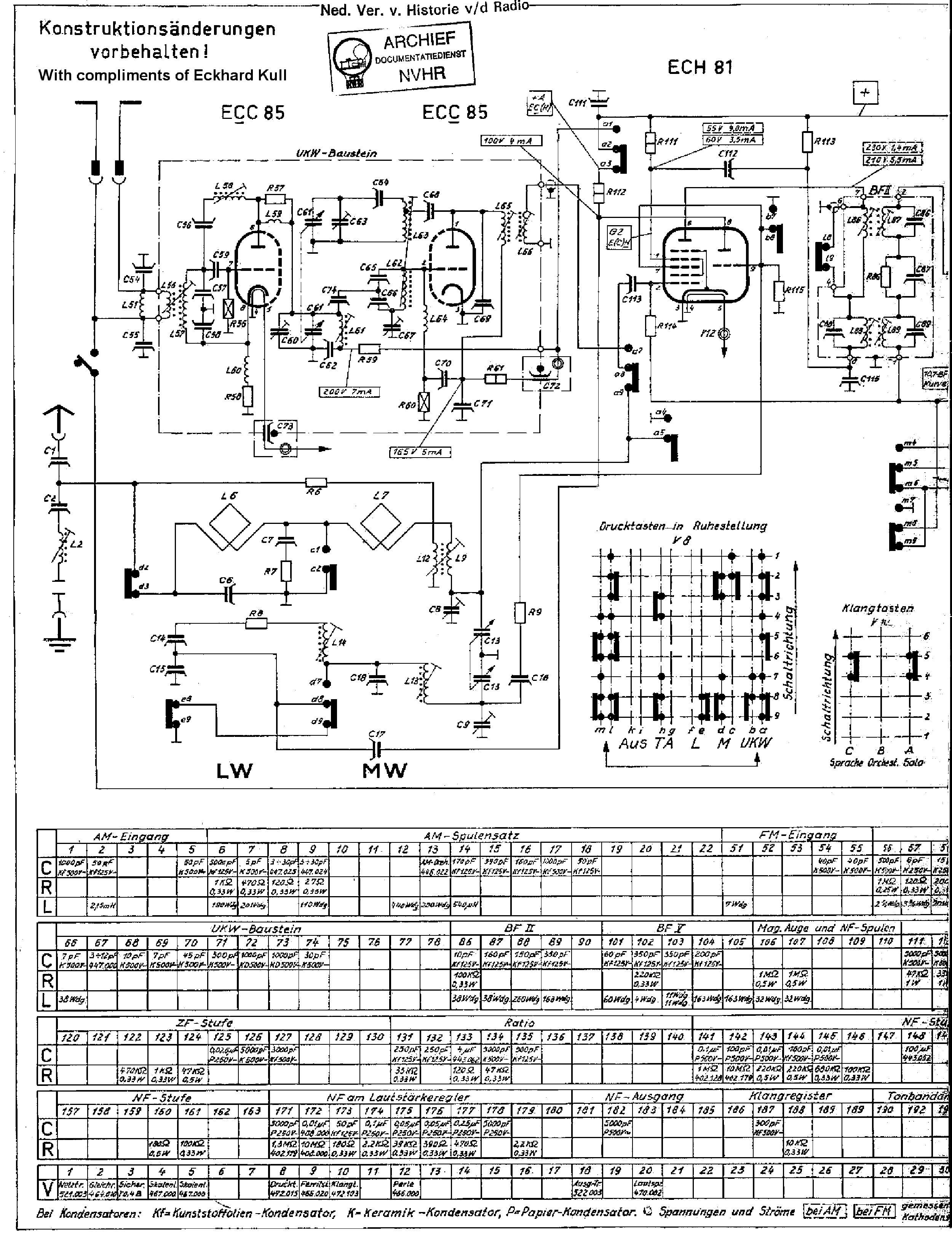 Schematic For Nordmende Elektra Wire Center E39 Fsu Wiring Diagram 59 613 Am Fm Receiver Sch Service Manual Download Rh Elektrotanya Com Fw