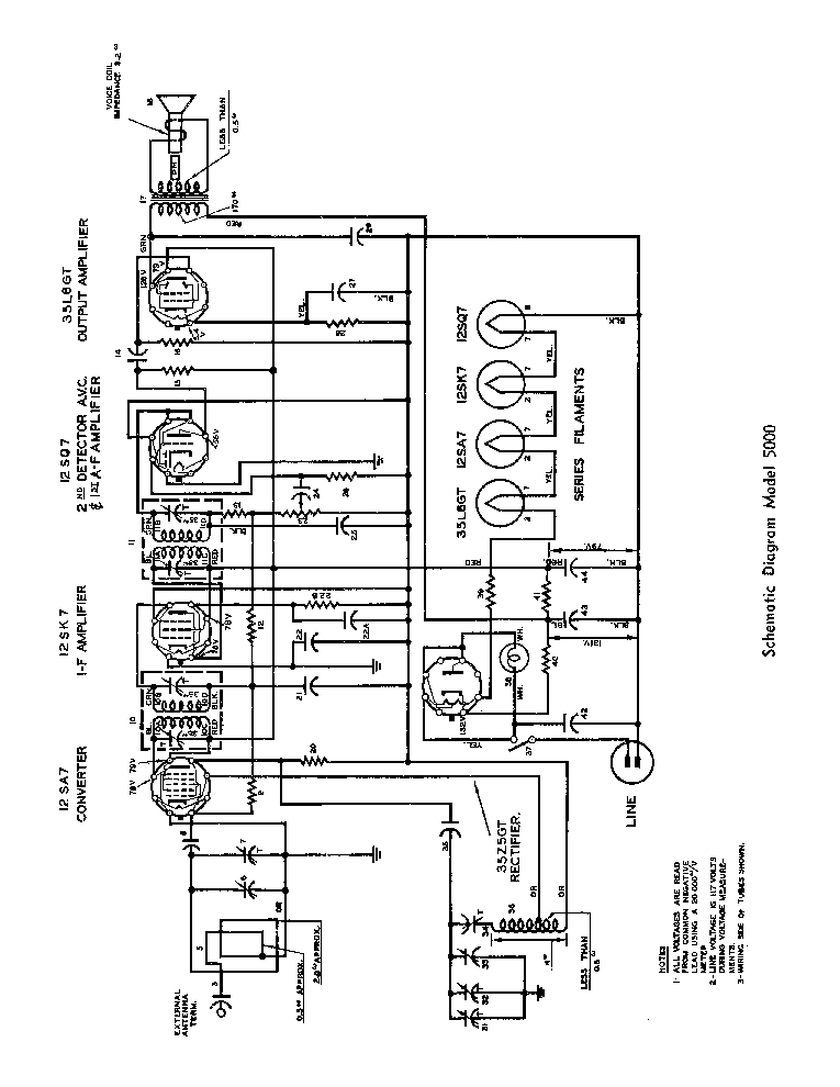 Northern Electric 5000 Mantel Radio 1946 Sm Service Manual