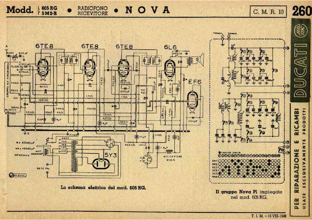 Nova e1 am radio receiver sch service manual download, schematics.