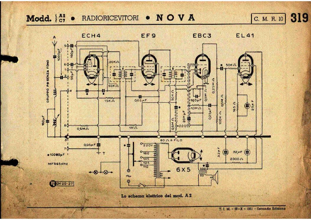 Nova 505-fono am radio receiver sch service manual download.