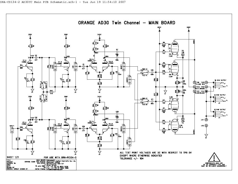 ORANGE TINY TERROR Service Manual download, schematics ... on