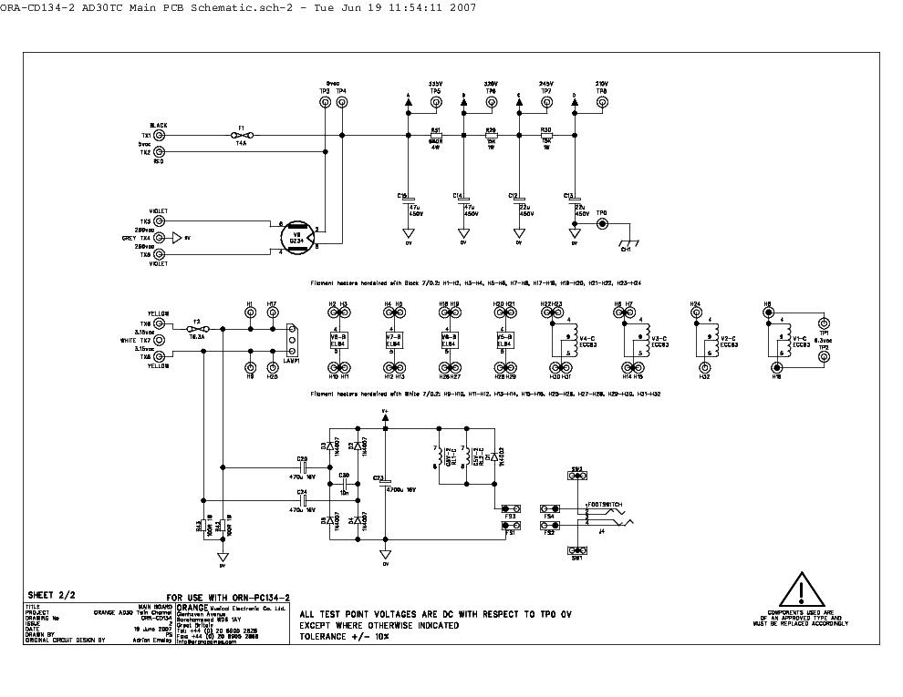 on orange ad30 schematic