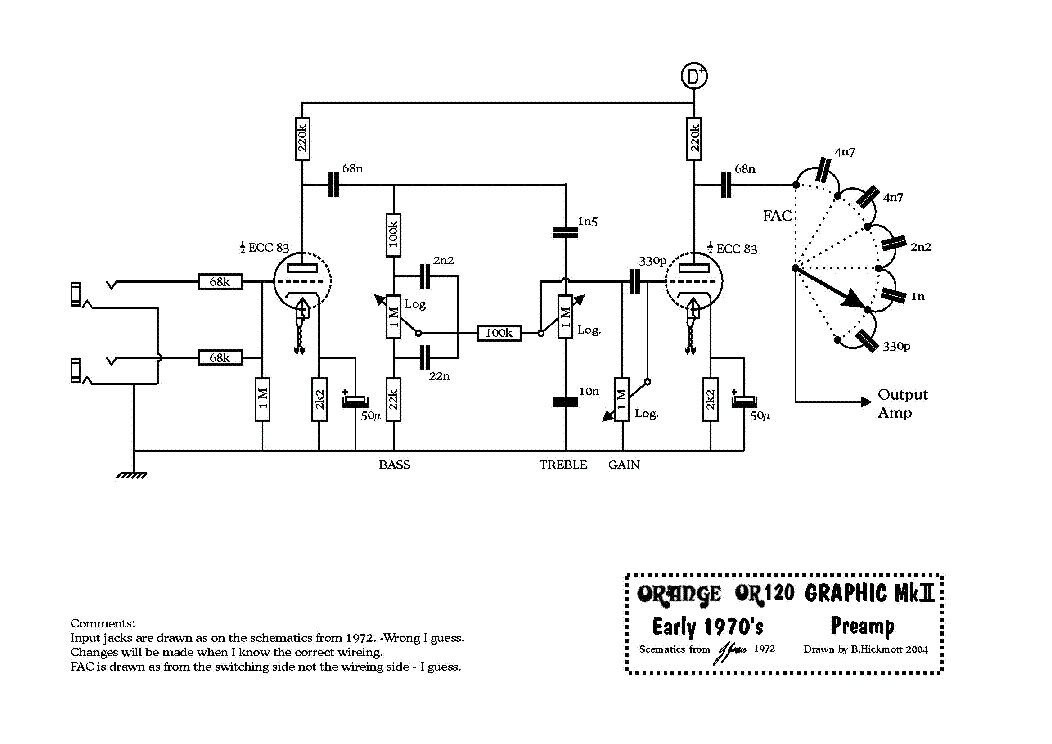 ORANGE CRUSH 20L GUITAR AMP SCH Service Manual download ... on