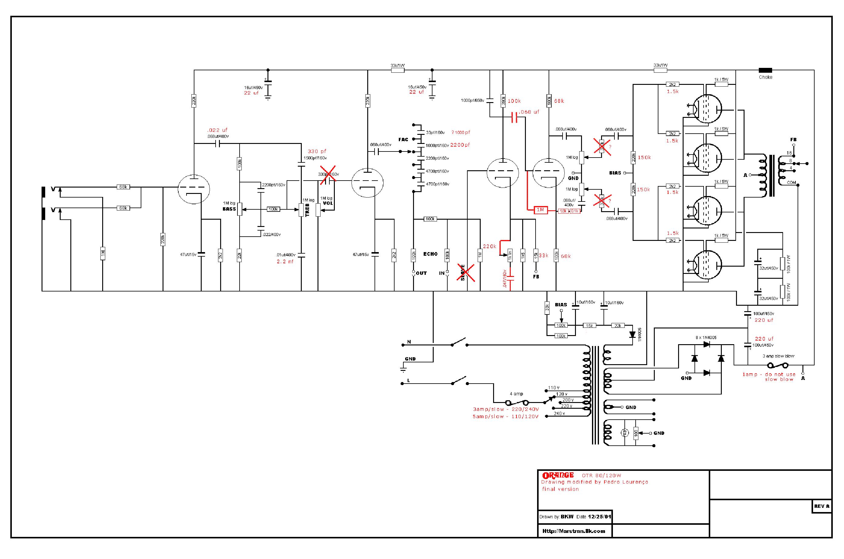 on orange schematic