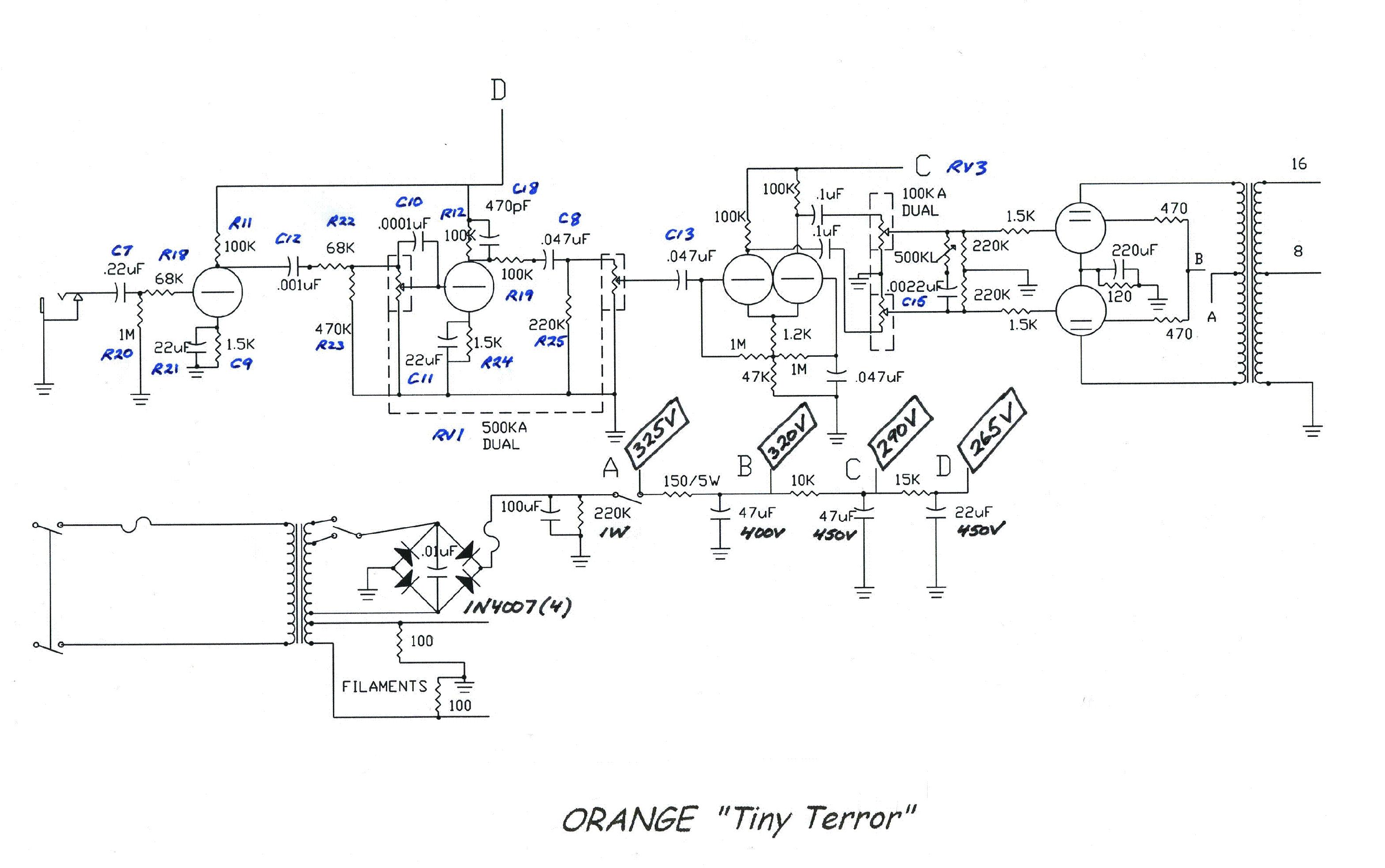 ORANGE AD30TC TWIN CHANNEL SCH Service Manual download ... on