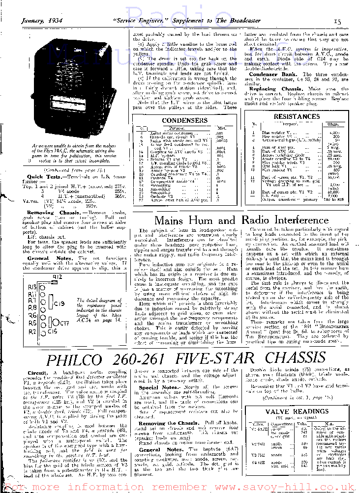 philco 260 261 five star chassis service manual download schematics rh elektrotanya com Five-Star Rating Five Star Senior Living