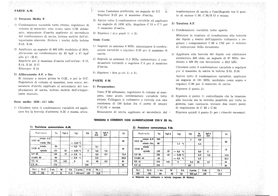 PHILIPS 260 AM-FM RADIO RECEIVER SCH service manual (2nd page)