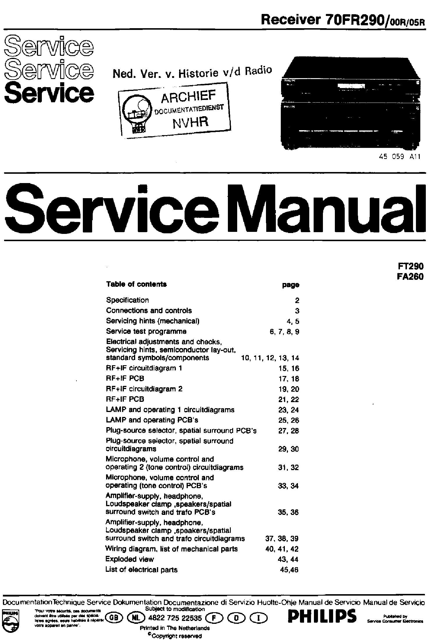 Philips 70fr290