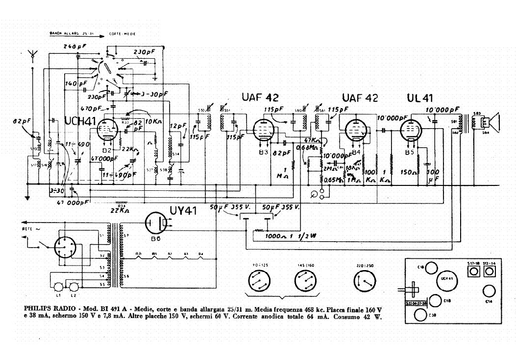 philips bolero 39 471a 30 radio sch service manual