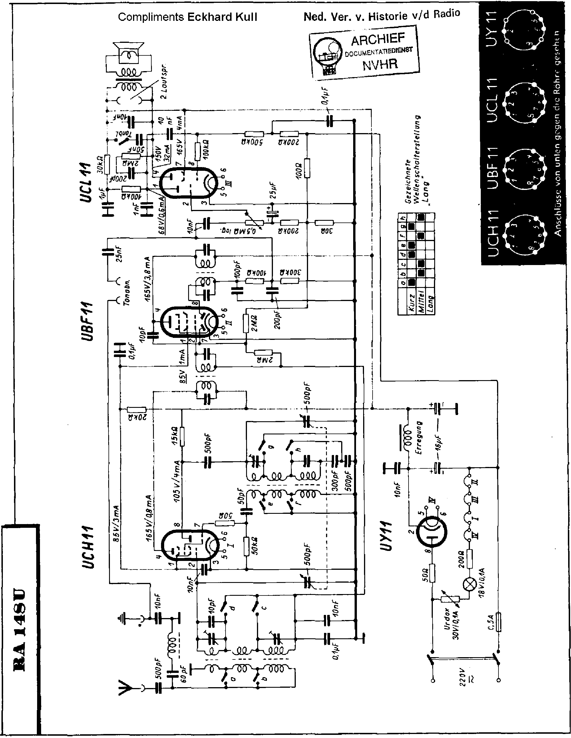 PHILIPS RA148U AC-DC RECEIVER SM service manual (1st page)