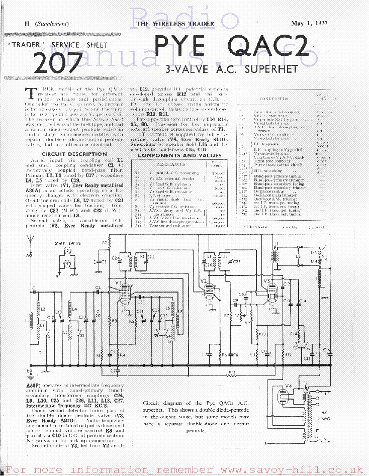 Pye Qac2 Service Manual Download Schematics Eeprom Repair Info