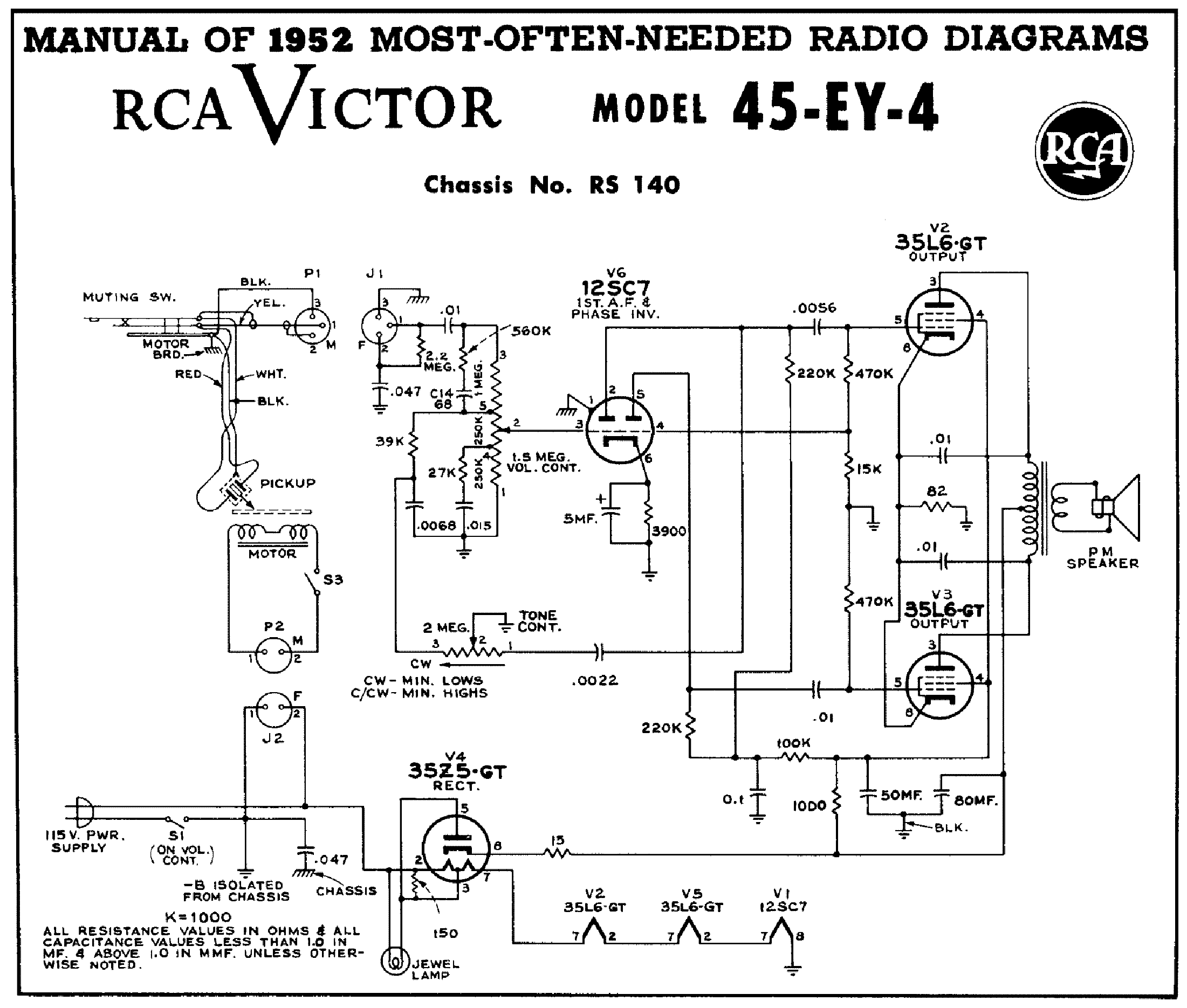 rca 45ey4 2x35l6 gt record player sch service manual download rh elektrotanya com 1963 RCA Stereo Amplifier Schematic Service Manuals Schematics RCA AFC 0.95L