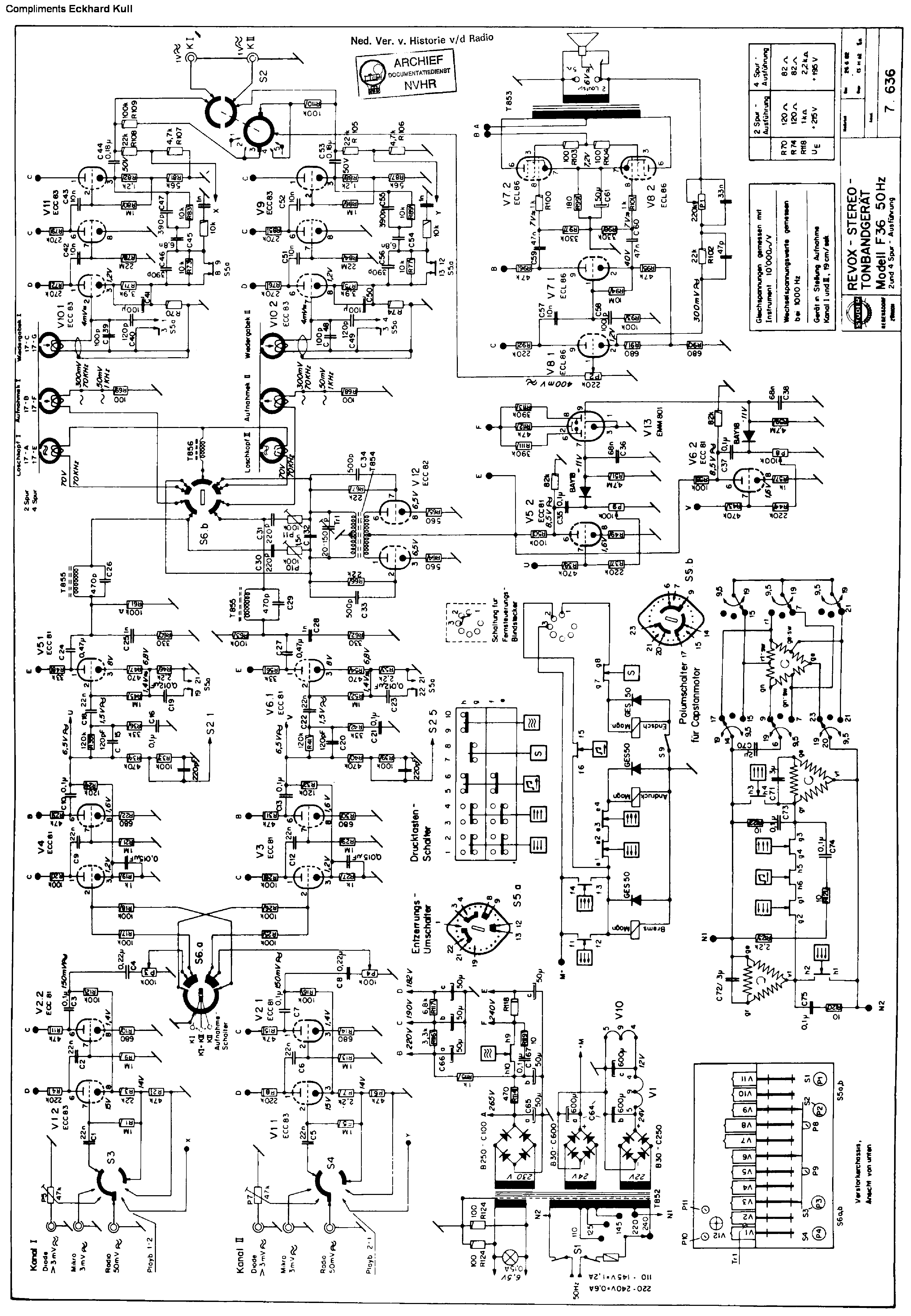 revox g36 tape sch service manual download  schematics