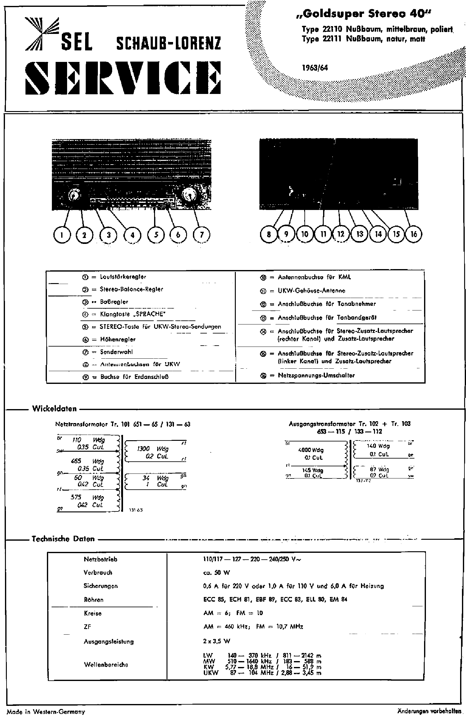Anleitungen & Schaltbilder 4030 Service Manual-Anleitung fr ...