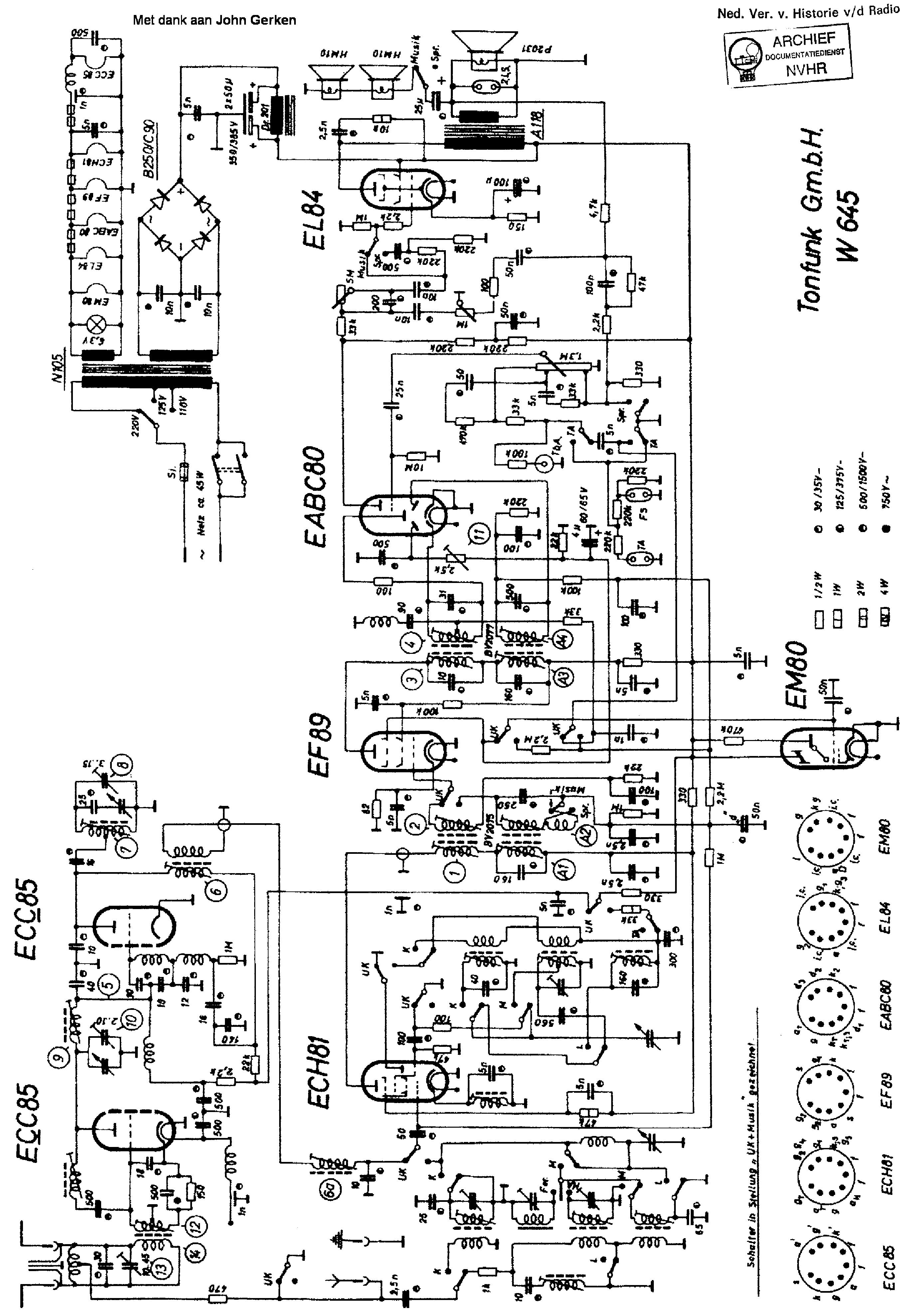 Tonfunk Violetta Ukw V D Am Fm Receiver Sch Service Manual Download F M Circuit Diagram Free