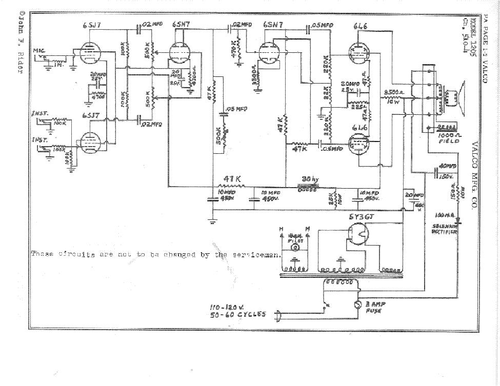 VALCO NATIONAL DOBRO-C SCH Service Manual download, schematics ...