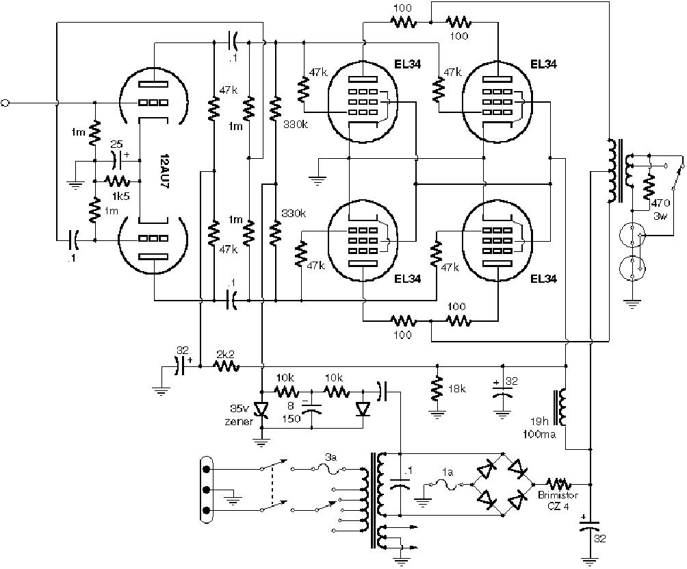 vox ac30 bass sch service manual download  schematics