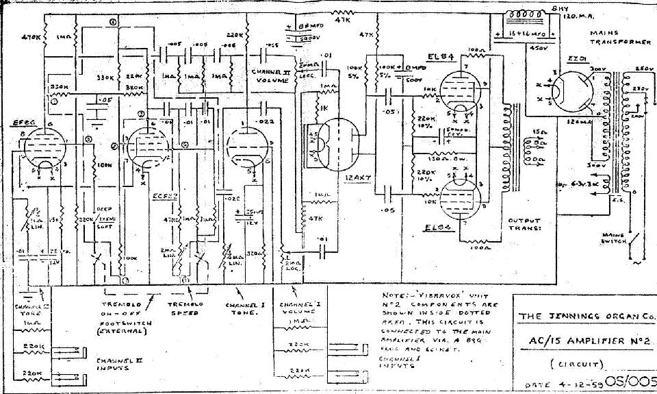 vox ac15 1959 sch service manual download  schematics