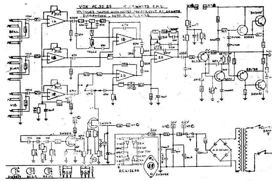 VOX AC30 SS SCH Service Manual download, schematics, eeprom ... Ac Schematic on