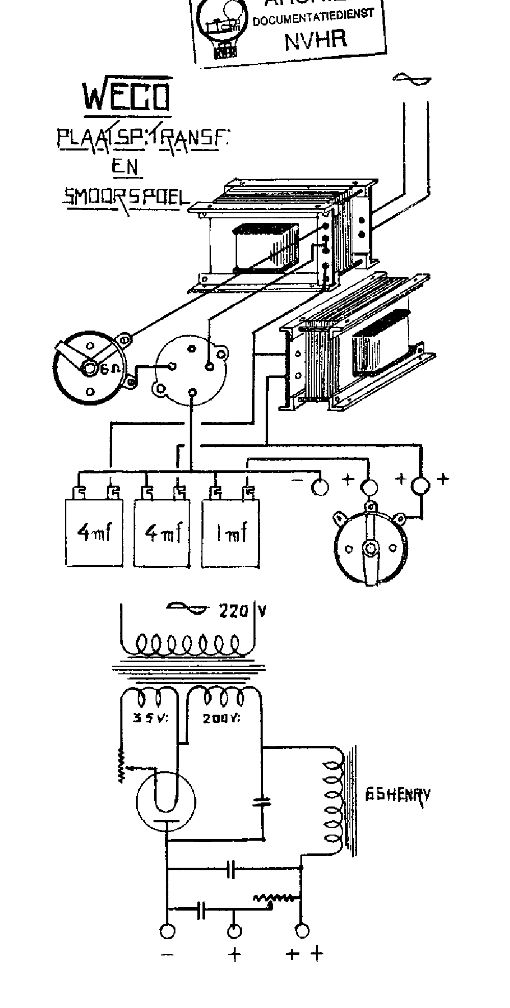 WECO PSA-B VINTAGE PLATTENSPIELER NETZTEIL SCH service manual (1st page)