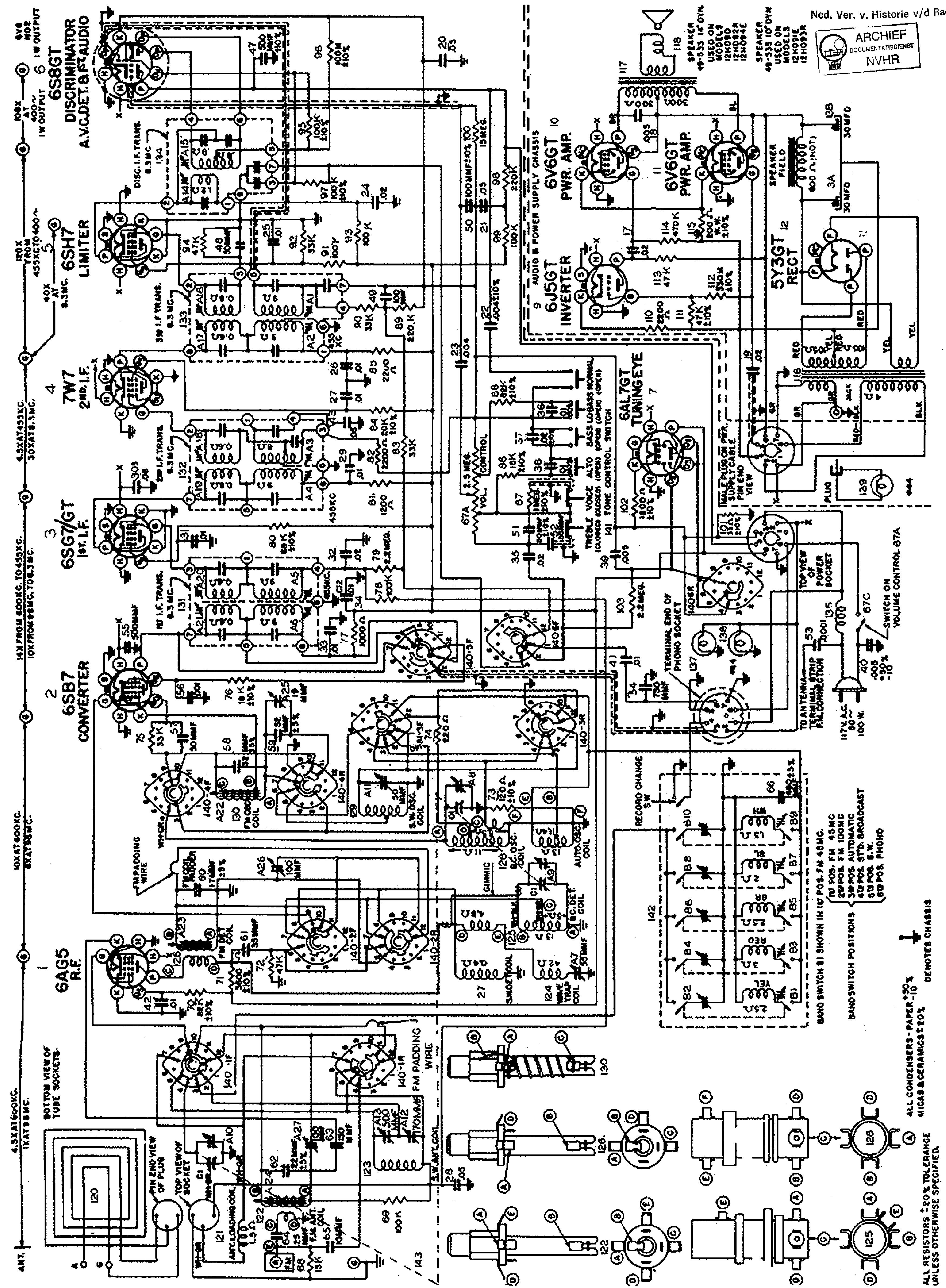 zenith 12h090 am-fm receiver sch service manual (1st page)