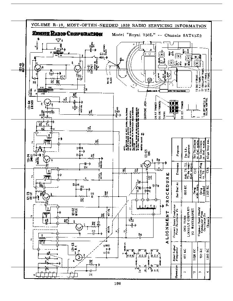 Zenith Royal750l Service Manual Download  Schematics