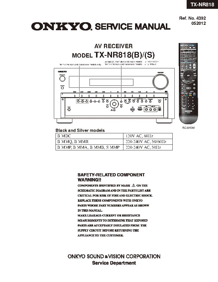 hfe onkyo tx nr818 service en service manual download schematics rh elektrotanya com onkyo tx-nr818 review cnet onkyo tx-nr818 manuel